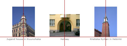 Figure 3 - Aligning photos in a grid