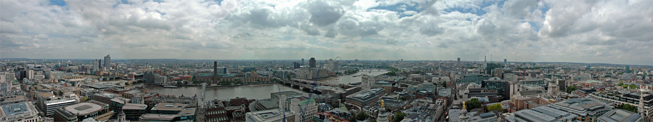 Panoramic view over London from the roof of St. Paul's Cathedral